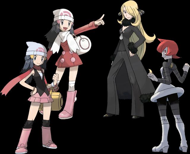 Pokémon Diamond Pearl Platinum artwork Dawn Cynthia Galactic Admin Mars