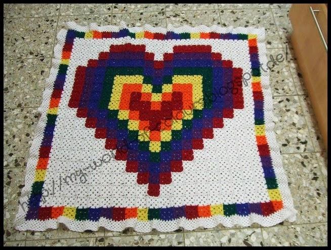 El Mundo de K rol: Mantas pixeladas a crochet