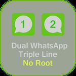 Root မလုိပဲ႕ messages  ႏွစ္ခုစီ အသုံးျပဳႏုိင္မယ္ Whats Dual Lines App 2016 v1.0 Apk