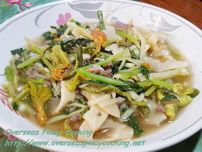 Sautéed Ilocano Vegetables with Ground Beef Recipe