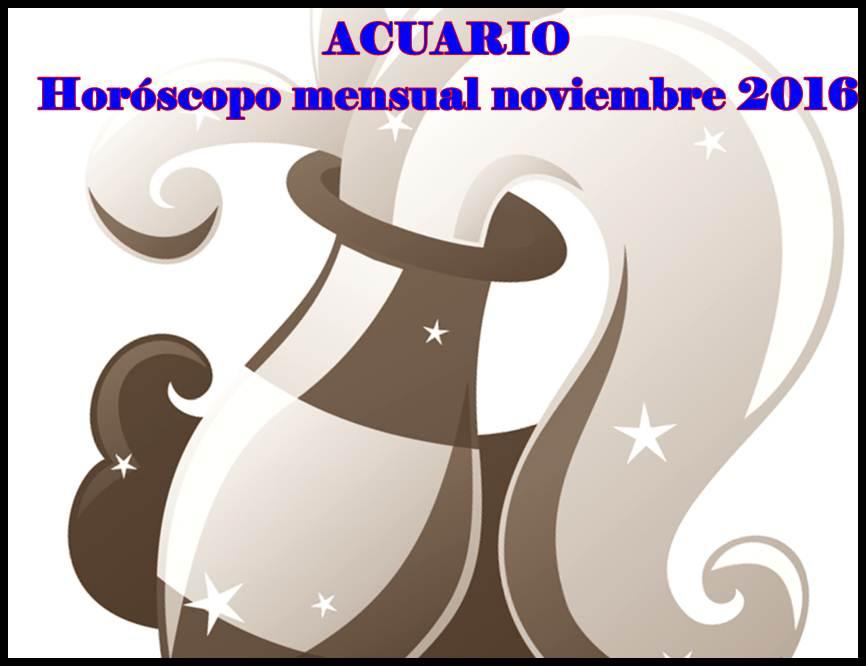 horoscopo noviembre acuario: