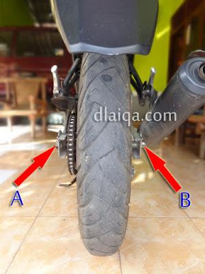 pasang kembali roda belakang