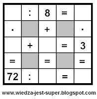 łatwe krzyżówki matematyczne