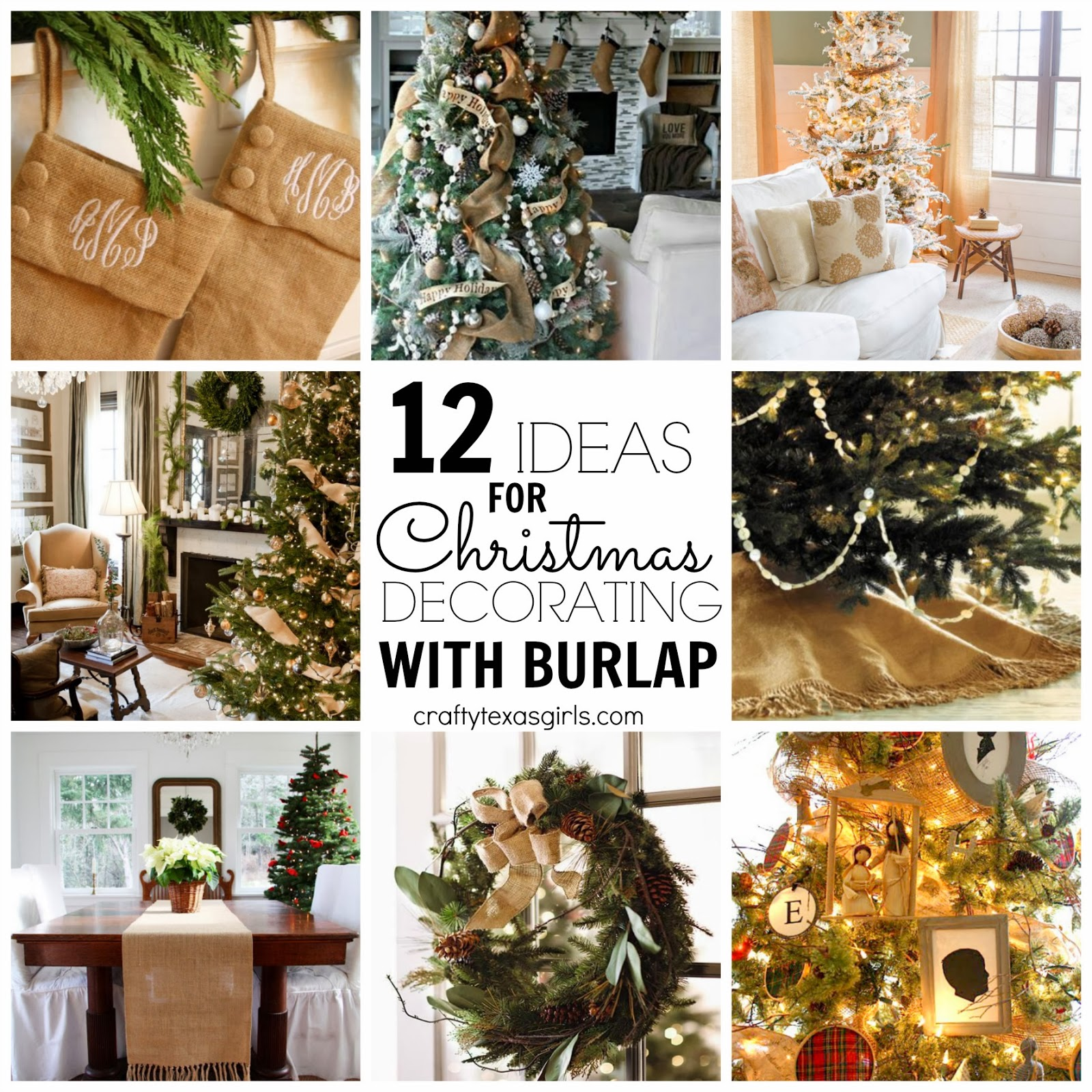 Burlap Design Ideas: Crafty Texas Girls: 12 Ideas For Christmas Decorating With