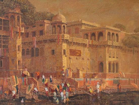Banaras 32 by Yashwant Shirwadkar, Oil on Canvas, 30 x 40 inches
