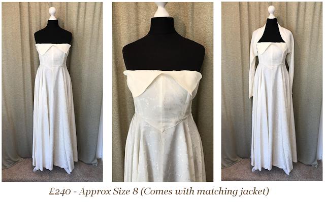 1950s Strapless Vintage Wedding Dress
