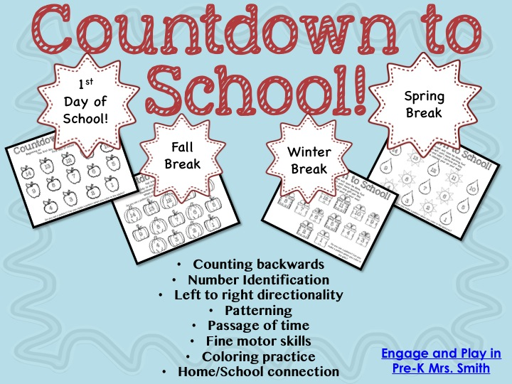 Engage and Play in Pre-K: Countdown to School!