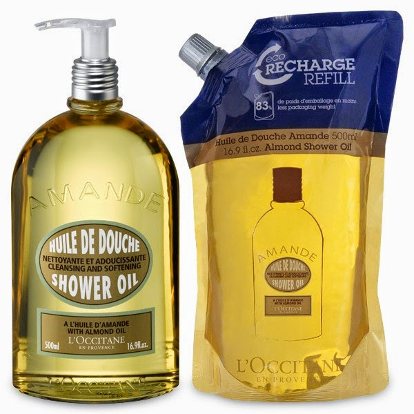 L'Occitane Almond Shower Gel and Almond Shower Gel Eco-Refill.jpeg