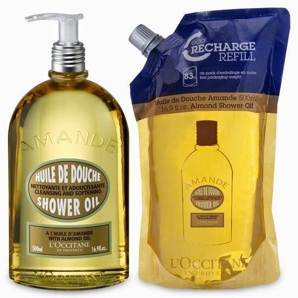 L'Occitane Almond Shower Gel and Almond Shower Gel Eco-Refill.jpeg