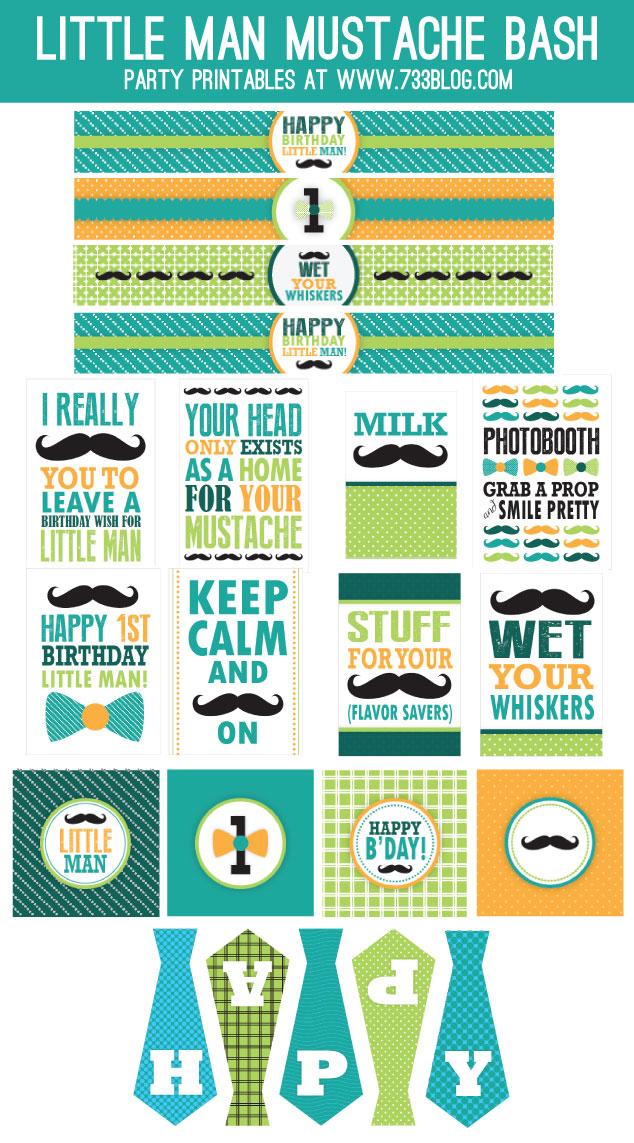 Küçük Adam Temalı Doğum Günü, Ücretsiz Küçük Adam Temalı Doğum Günü Seti,Flama, Su Şişesi Etiketi, Peçete Etiketi,cupcake süsleri,etiket