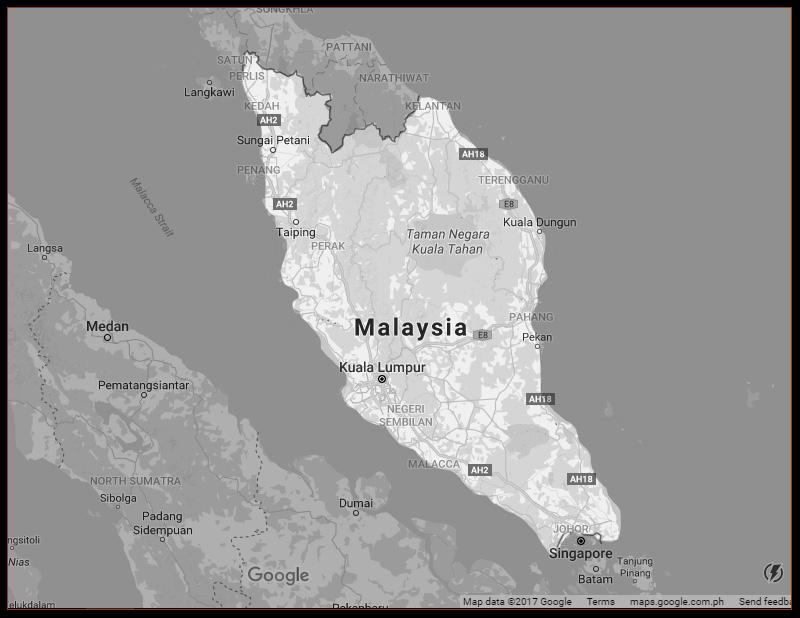 MAP OF PENINSULAR MALAYSIA