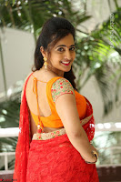 Lasya Cute Beauty in Saree Backless Choli at her Interview ~  Exclusive 070.JPG