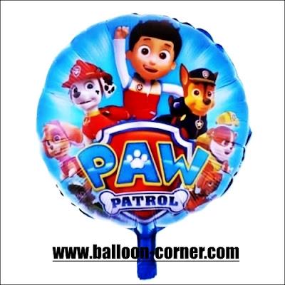 Balon Foil Bulat PAW PATROL