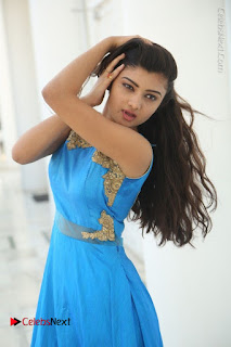 Telugu Actress Akshita (Pallavi Naidu) Latest Stills in Blue Long Dress at Inkenti Nuvve Cheppu Movie Promotions  0020.jpg