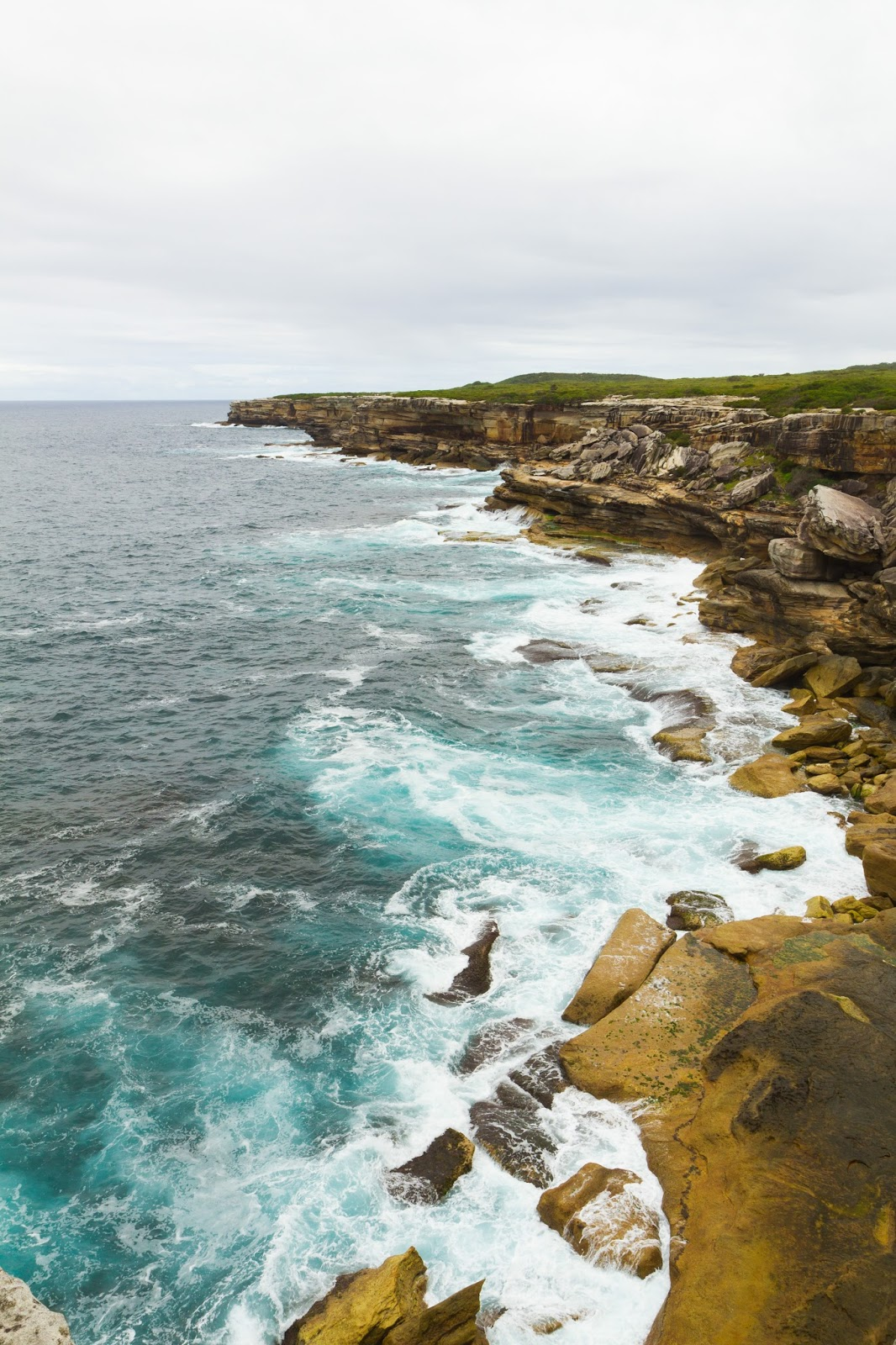 Cliffs of Kurnell in Syndey Australia