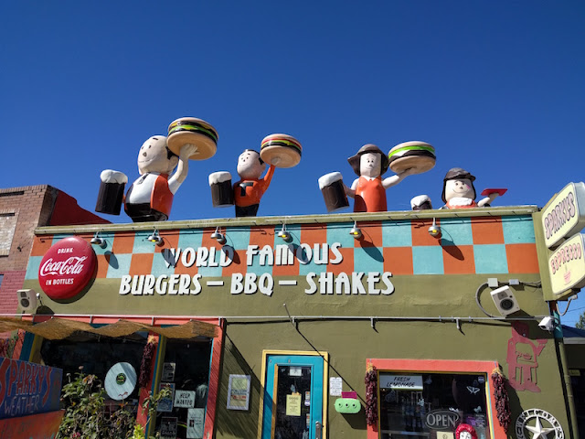 Sparky's in Hatch, New Mexico -- home of the World Famous green chile cheeseburger