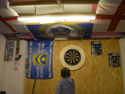 a pub in your shed garage dartboard football flags