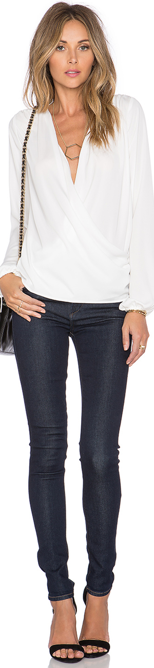 L'ACADEMIE THE WRAP BLOUSE