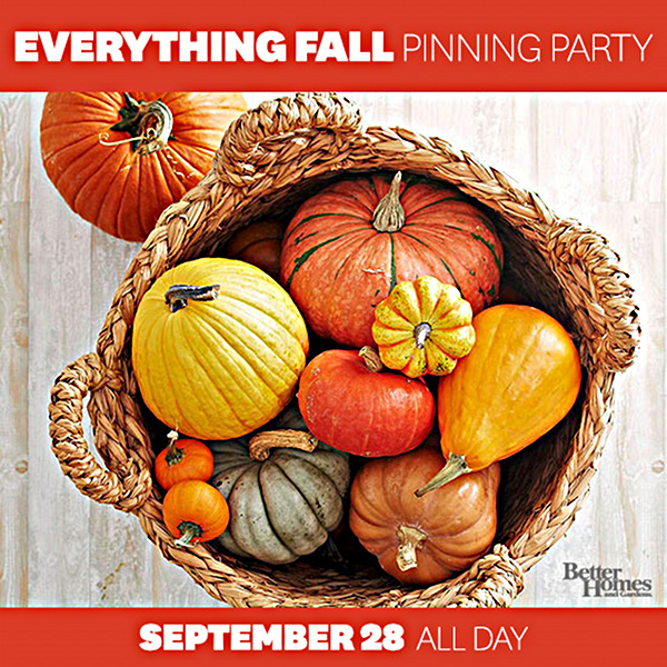 Fall Pinning Party with Better Homes & Gardens - via BirdsParty.com