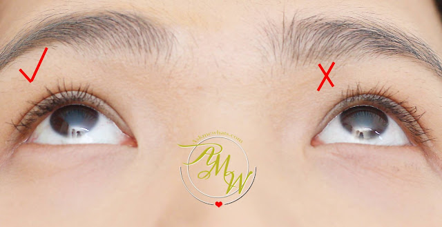 before and after photo using Measurable Difference Lash Amplifying Mascara & Primer