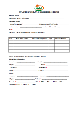 Download Double Bedroom House Scheme Application Form1