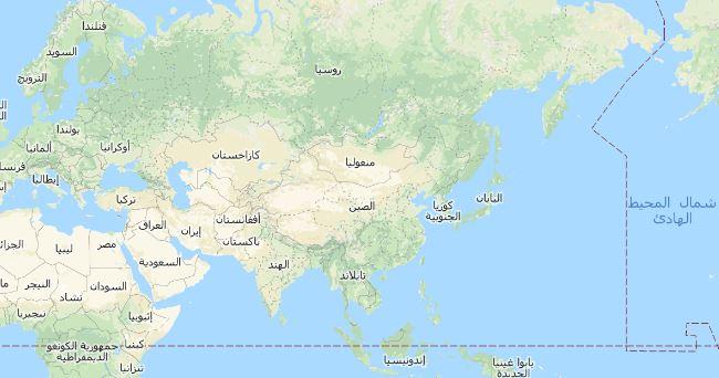 خريطة قارة آسيا Asia Map مجلة رحالة