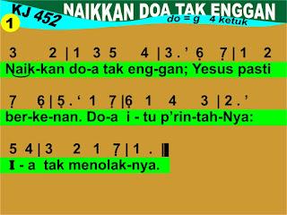 Lirik dan Not Kidung Jemaat 452 Naikkan Doa Tak Enggan