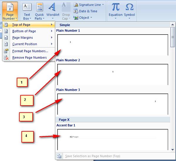 cara membuat nomor halaman pada microsoft word