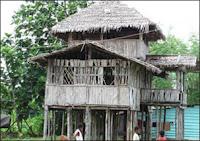 Rumah Adat Kep. Teluk Cendrawasih