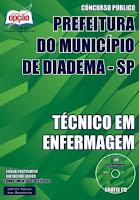 Apostila  Prefeitura de Diadema Técnico em Enfermagem.