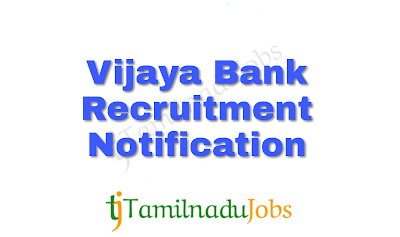 Vijaya Bank Recruitment Notification of 2018