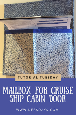 Magnetic Mailbox Sewing Project for Cruise Ship Cabin Door
