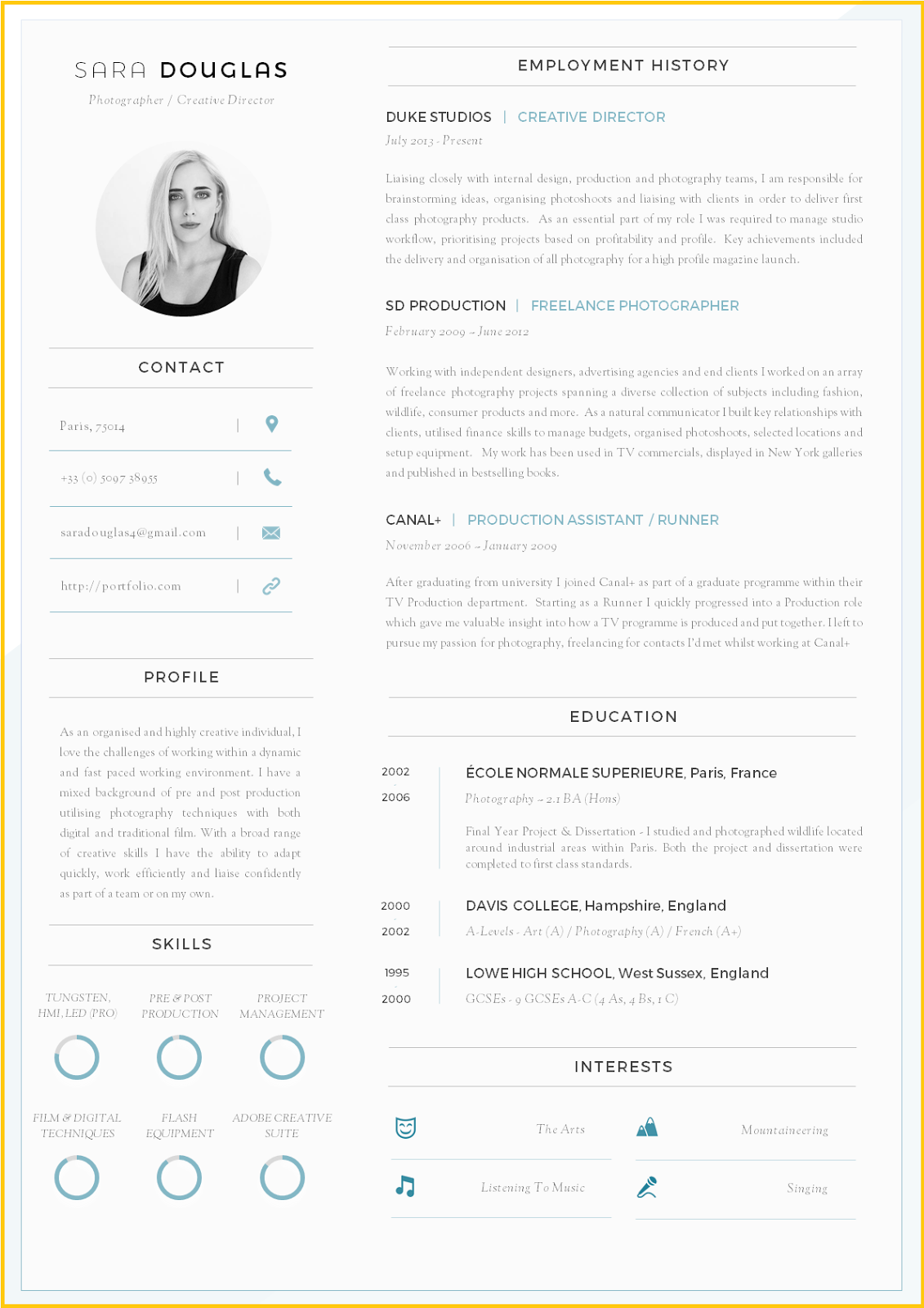 Cv Template Layout Word