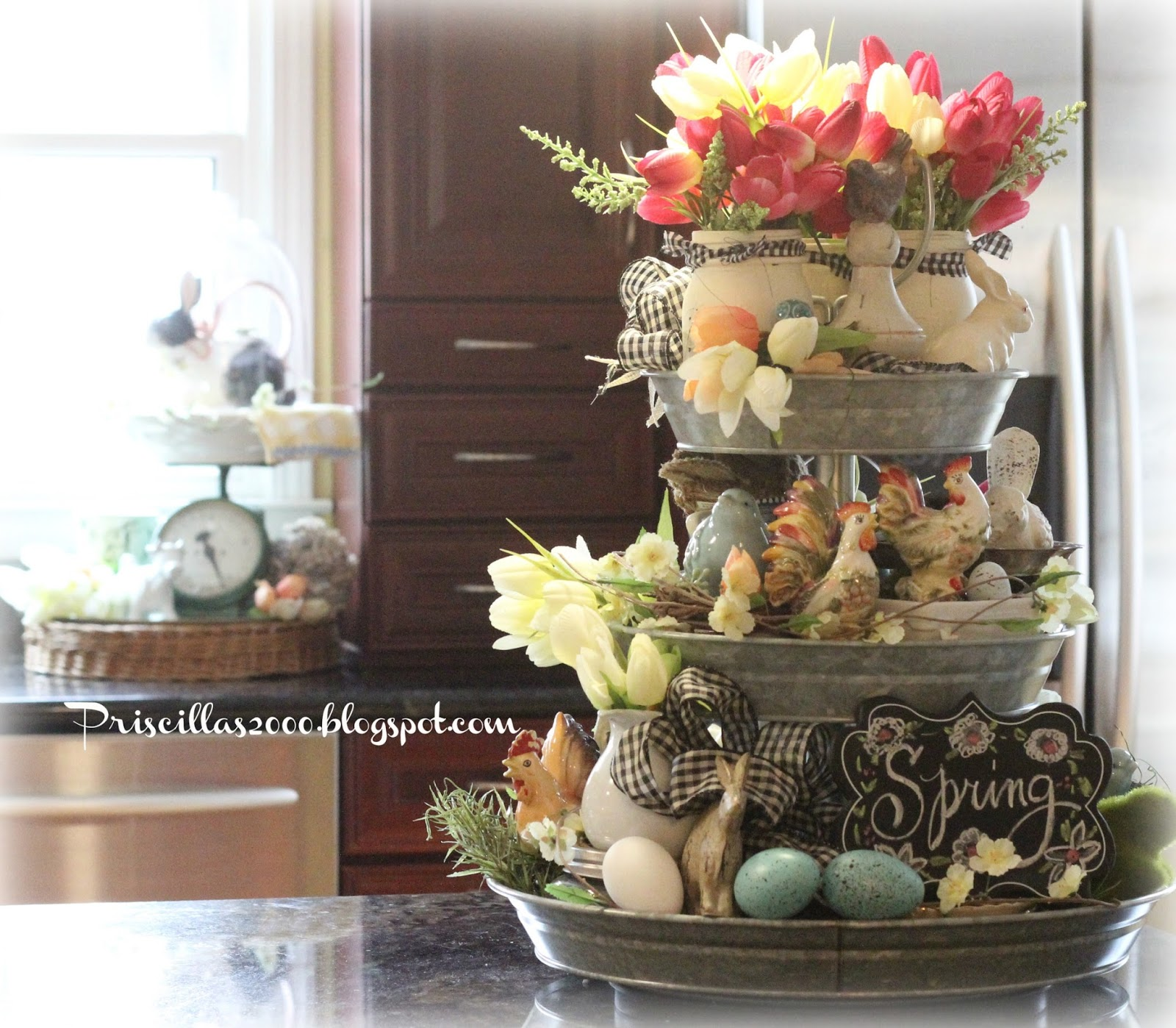 18 Spring Decor Ideas: Priscillas: Year Two Of The Galvanized Tiered Tray
