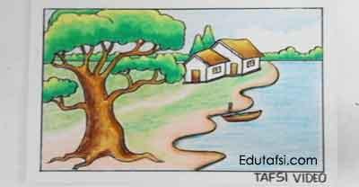 Belajar menggambar pohon besar