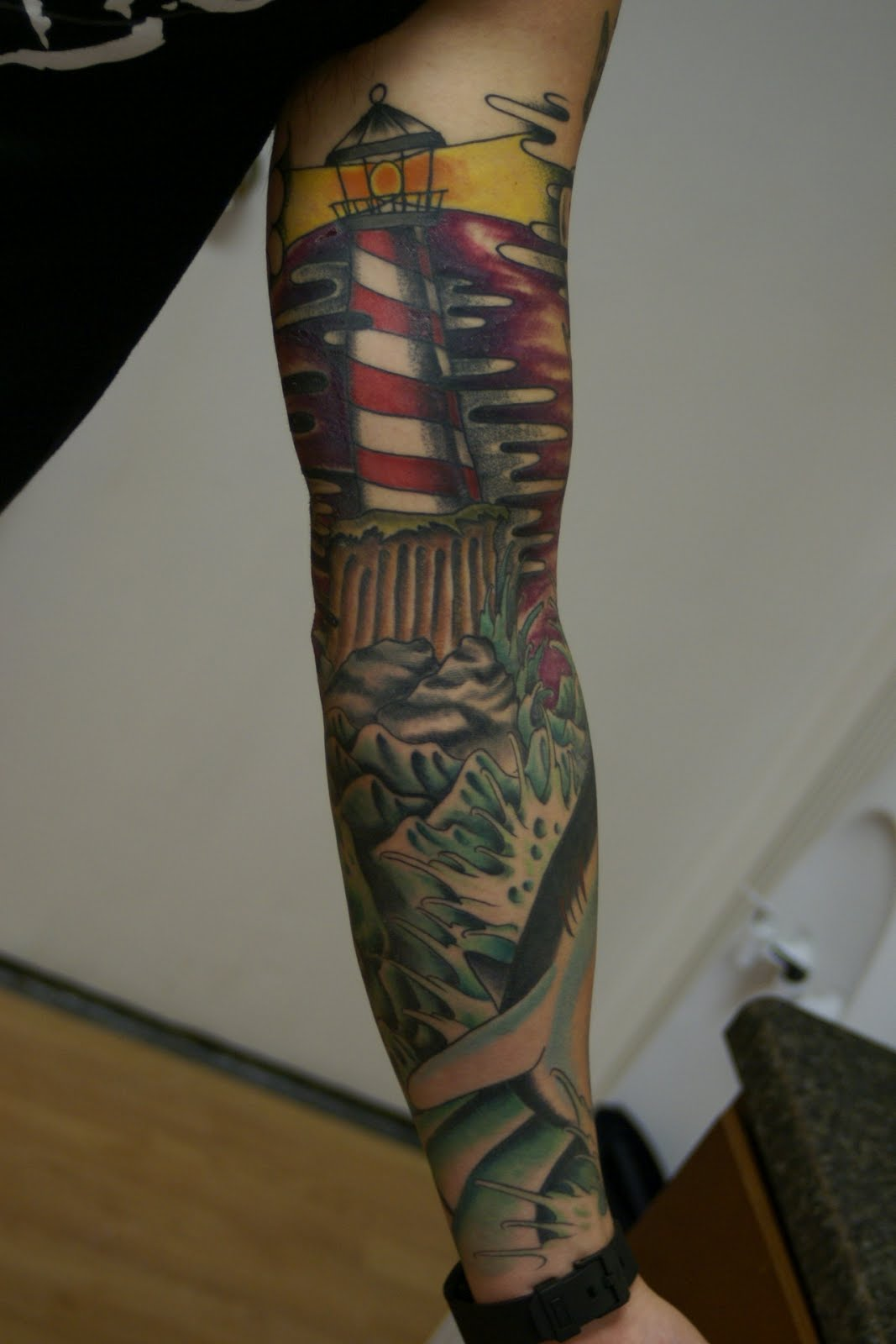 tattoos cullen sleeve classic shipwreck ryan posted am