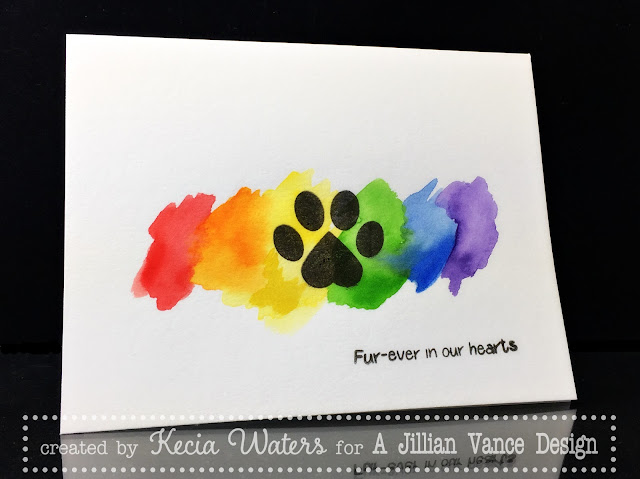 AJVD, Kecia Waters, pet sympathy, Kuretake Watercolors