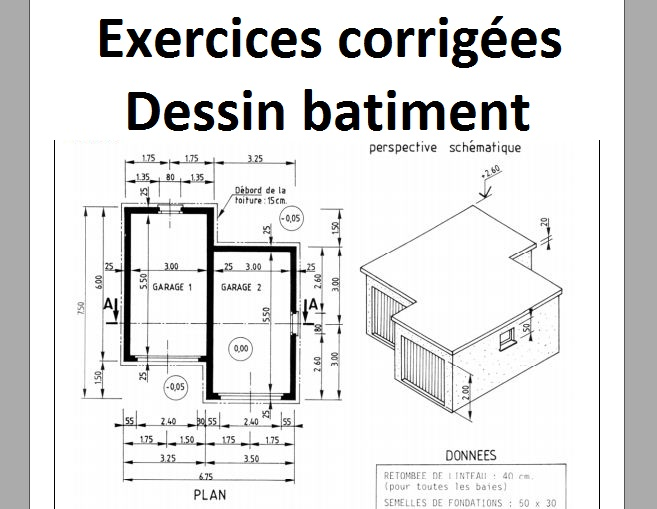 dessin technique les coupes exercices corrig s cours g nie civil outils livres exercices. Black Bedroom Furniture Sets. Home Design Ideas