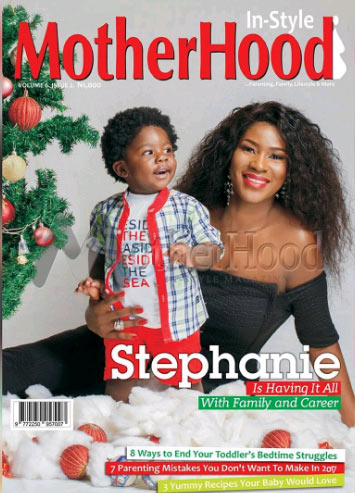 More photos from Stephanie Linus' photoshoot for Motherhood InStyle Magazine