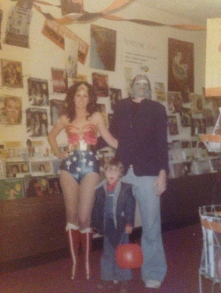these women rocking wonder woman costumes in the late 1970s and 1980s