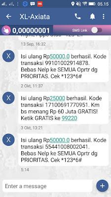 Bukti Pembayaran Pulsa Gratis dari Aplikasi Dooet QNB