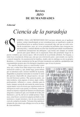 Revista Jizo de humanidades: segundo y tercer número, Ancile