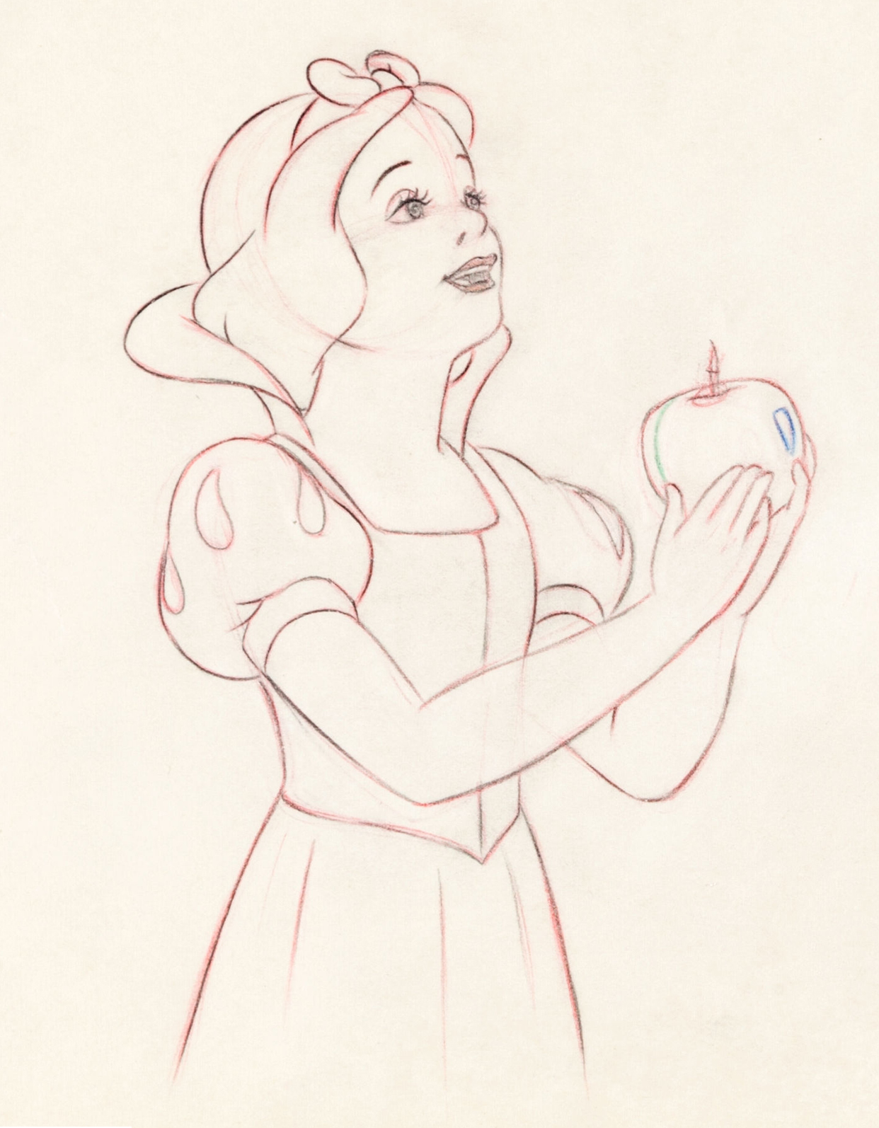 Filmic light snow white archive 2013 heritage animation art auction