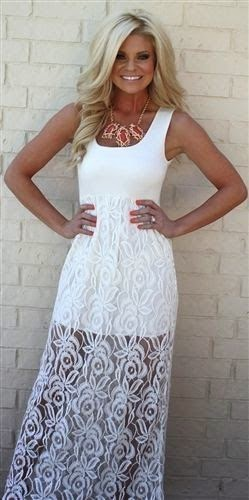white lace maxi dress fashion