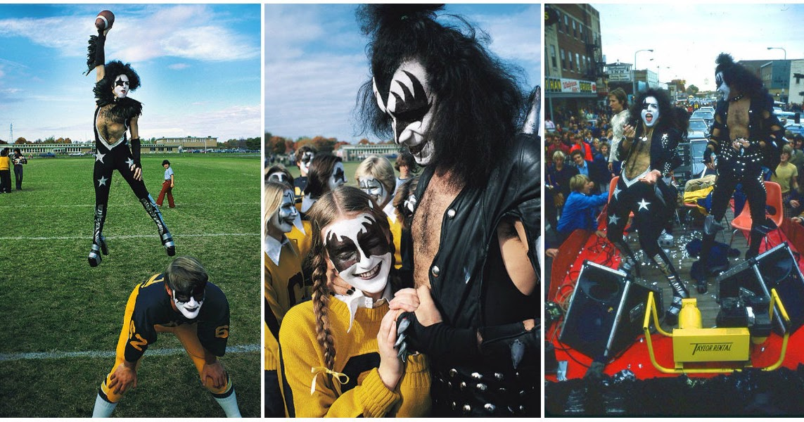 The Amazing Story and Photos of KISS Played at Cadillac High School's Homecoming in 1975