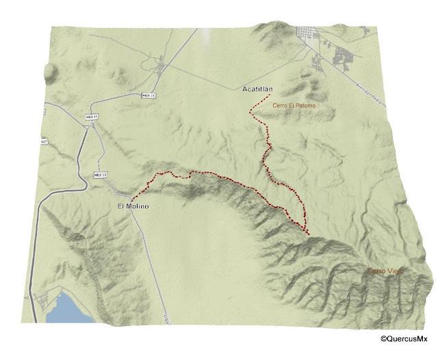 Mapa Ruta entre Acatitlán y El Molino