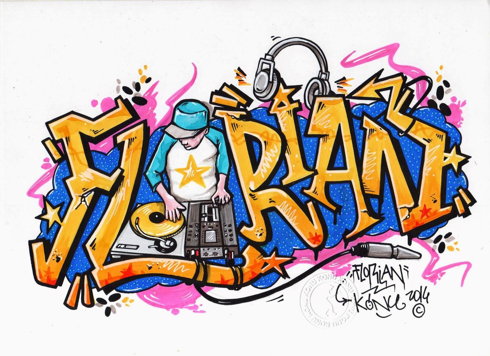 Ex spray prenoms - Coloriage prenom tag ...