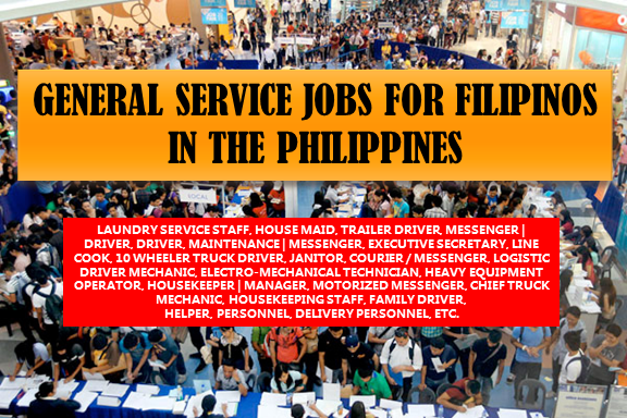Are you looking for a job? The following are job vacancies for you. If interested, you may contact the employer/ agency listed below to inquire further or to apply.    1. LAUNDRY SERVICE STAFF Apply before 30 Jul WASH 'N DRY LAUNDROMAT Vacancy: 5 openings Company: WASH 'N DRY LAUNDROMAT Office Address: Upper McKinley Rd, Taguig, Metro Manila, Philippines  2. DELIVERY HELPER Apply before 20 Aug Vacancy: 1 opening Company: HKR Equipment Corporation Website: http://www.hkr.com.ph/ Office Address: 9705 Kamagong St., San Antonio Village, Makati City, Makati, Metro Manila, Philippines  3. LAUNDRY SERVICE DELIVERY PERSONNEL Apply before 29 Jul Vacancy: 3 openings Company: WASH 'N DRY LAUNDROMAT Office Address: Upper McKinley Rd, Taguig, Metro Manila, Philippines  4. TRAILER DRIVER Apply before 30 Jul Office Address: Cavite, Philippines Company: MEAT ADVANTAGE EXCHANGE INC. Salary: 16,000.00 - 17,000.00 PHP/ month  5. HOUSE MAID Apply before 18 Aug Vacancy: 3 openings Recruiter: Building Dreams Pharma Group Inc. Office Address: Bahay Toro, 20 Seminary Road, Quezon City, NCR, Philippines  6. DELIVERY DRIVER | HELPER Apply before 15 Aug Vacancy: 1 opening Recruiter: GINGERSNAPS (IL Coniglio Bianco Corporation) Website: http://www.gingersnaps.com.ph Office Address: Warehouse 19 & 20, Armal Compound II, M. Eusebio Avenue, Brgy. San Miguel Pasig City, Pasig, Metro Manila, Philippines  7. MESSENGER | DRIVER Apply before 14 Aug Recruiter: Sacred Lane Estate and Development Corporation Vacancy:1 opening Office Address: Philippine Stock Exchange Plaza, Ayala Ave, Makati, Metro Manila, Philippines  8. WAREHOUSE DRIVER Apply before 13 Aug Recruiter: Philippine OPPO Mobile Technology, Inc Vacancy: 1 opening Website: http://www.oppo.com/ph/index.html Office Address: Ortigas, Pasig, Metro Manila, Philippines Salary: 13,000.00 - 15,000.00 PHP/ month  9. DRIVER Apply before 30 Jul Recruiter: MEAT ADVANTAGE EXCHANGE INC. Office Address: Bacoor, Cavite, Philippines Salary: 12,000.00 - 13,000.00 PHP/ month  10. MAINTENANCE | MESSENGER Apply before 30 Aug Recruiter: ELearning Edge, Inc. Vacancy: 1 opening Website: http://www.imadigitalmarketer.com/ Office Address: Amberland Plaza, Jade Dr, San Antonio, Pasig, 1605 Metro Manila, Philippines Salary: 10,000.00 - 15,000.00 PHP/ month  11. MESSENGER Apply before 22 Jun Recruiter: Fyrelyn Industries, Inc. Vacancy: 1 opening Website: http://www.fyrelyn.com Office Address: Tandang Sora, Quezon City, Metro Manila, Philippines  12. EXECUTIVE SECRETARY Apply before 29 Jun Recruiter: Lufthansa Technik Philippines Vacancy: 1 opening Website: https://www.ltp.com.ph Office Address: Lufthansa Technik Philippines Inc. MacroAsia Special Economic Zone, Villamor Air Base, Pasay City 1309 Philippines, Pasay, Metro Manila, Philippines  13. COMPANY DRIVER Apply before 27 Dec Recruiter: Orchard Property Marketing Corporation Vacancy: 1 opening Website: http://www.opmc.ph Office Address: Unit 708-West Tower, Philippine Stock Exchange Centre, Exchange Road Ortigas Center 1605, Philippines  14. LINE COOK Apply before 4 Aug Recruiter: Big Box Burger Vacancy: 2 openings Office Address: Pasig, Metro Manila, Philippines  15. 10 WHEELER TRUCK DRIVER Apply before 3 Aug Recruiter: Milkjoy Corporation Vacancy: 1 opening Office Address: Purok Uno, Barangay Bolbok, Lipa City, Batangas 16. JANITOR Apply before 4 Jul Recruiter: Piandre Salon,. Inc. Vacancy: 2 openings Website: http://www.piandre.com Office Address: 25 Timog Ave, Diliman, Quezon City, Metro Manila, Philippines  17. COMPANY DRIVER | MESSENGER Apply before 30 Nov Recruiter: Henry's Professional Photo Marketing Inc Vacancy: 2 openings Website: http://www.henryscameraphoto.com/ Office Address: 1747 corner nakpil street Taft Avenue malate manila, Manila, Metro Manila, Philippines  18. DRIVER Apply before 30 Jul Recruiter: Chain Glass Enterprises Inc. Vacancy: 6 openings Website: http://www.chainglass.com Office Address: 2728 Rizal Avenue, Sta. Cruz, Manila, Manila, Metro Manila, Philippines  19. COURIER / MESSENGER Apply before 30 Jun Recruiter: Geotech Mercantile Corporation Vacancy: 2 openings Website: http://www.geotechph.com Office Address: 3F Tanbel Bldg., 1601 E. Rodriguez Sr. Ave, Brgy. Pinagkaisahan, 1109 Quezon City, Philippines  20. WELDER Apply before 27 Jul Recruiter: MEAT ADVANTAGE EXCHANGE INC. Vacancy: 1 opening Office Address: Bacoor, Cavite, Philippines  21. LOGISTIC DRIVER MECHANIC Apply before 27 Jul Recruiter: MEAT ADVANTAGE EXCHANGE INC. Vacancy: 1 opening Office Address: Bacoor, Cavite, Philippines  22. DRIVER | CRK Apply before 27 Jul Recruiter: Cebu Pacific Air /Cebgo Vacancy: 1 opening Website: https://www.cebupacificair.com/ Office Address: Cebu Pacific Building Domestic Road, Barangay 191, Zone 20, Pasay, Metro Manila, Philippines  23. ELECTRO-MECHANICAL TECHNICIAN Apply before 22 Jul Recruiter: True North Manufacturing Services Corporation Vacancy: 30 openings Office Address: Mabalacat, Pampanga, Philippines  24. COMPANY DRIVER | MAKATI CITY Apply before 27 Jun Recruiter: PJ Lhuillier Group of Companies Vacancy: 1 opening Website: http://www.cebuanalhuillier.com Office Address: Makati, Metro Manila, Philippines  25. HEAVY EQUIPMENT OPERATOR Apply before 23 Jul Recruiter: Kokusai JPH Inc Vacancy: 1 opening Website: http://www.kokusai.com.ph/ Office Address: 0878 B-3-C Visayas Ave., Pasong Tamo, Quezon City, Metro Manila, Philippines  26. WELDER Apply before 30 Aug Recruiter: True North Manufacturing Services Corporation Vacancy: 30 openings Office Address: Mabalacat, Pampanga, Philippines  27. COMPANY DRIVER Apply before 30 Jun Recruiter: Philippine OPPO Mobile Technology, Inc Vacancy: 1 opening Website: http://www.oppo.com/ph/index.html Office Address: J. Vargas cor Meralco Ave. Ortigas Center, Pasig, Metro Manila, Philippines  28. COMPANY DRIVER Apply before 29 Sep Recruiter: Metrotech Rental Solutions, Inc. Vacancy: 5 openings Office Address: 138 Shaw Blvd,, Brgy. Bagong Silang, Mandaluyong City, Mandaluyong, National Capital Region, Philippines  29. MESSENGER  Apply before 18 Jul Recruiter: Atalian Philippines Vacancy: 15 openings Office Address: 422 OAC Building, #27 San Miguel Avenue, Ortigas Center, Pasig City, PH  30. HOUSEKEEPER | MANAGER Apply before 30 Jun Recruiter: Home Base Vacancy: 2 openings Salary: 7,000.00 - 18,000.00 PHP/ month Office Address: Timberland Ave, San Mateo, Rizal, Philippines  32. TECHNICAL FIELD STAFF Apply before 17 Nov Recruiter: Beyond Innovations, Inc. Vacancy: 10 openings Website: http://www.beyondinnov.com Office Address: Topy's Place Bldg, Calle Industria, Bagumbayan, Quezon City, Metro Manila, Philippines  33. COMPANY DRIVER  Apply before 14 Jul Recruiter: Geenger Communications, Inc. Vacancy: 1 opening Website: http://www.geenger.com Office Address: Metropolitan Ave., Sta. Cruz, Makati City, Makati, Metro Manila, Philippines  34. REFRIGERATION TECHNICIAN Apply before 11 Jul Recruiter: MEAT ADVANTAGE EXCHANGE INC. Vacancy: 1 opening Office Address: Las Pinas, NCR, Philippines  35. JANITOR Apply before 31 Jul Recruiter: LUC FOODS INC. Vacancy: 2 openings Office Address: Unit 3A, Building 5, Salem Commercial Complex, Domestic Road, Barangay 191, Pasay City  36. MOTORIZED MESSENGER Apply before 1 Jul Recruiter: Bridgewith, Inc. Vacancy: 1 opening Website: http://bridgewith.com.ph Office Address: Unit 309, 3rd Floor DMG Center, D.M.Guevara cor. Calbayog St., Brgy. Mauway, Mandaluyong, Metro Manila, Philippines  37. CASHIER Apply before 29 Jun Recruiter: JC Premiere Business International Inc. Vacancy: 5 openings Website: https://www.kalibrr.com/c/jc-premiere-business-international-inc-1/jobs/53457/cashier?similar_job_code=0&app_source=job-board-6-4-15-121 Office Address: Greenhills, San Juan, Metro Manila, Philippines Salary: 13,000.00 - 16,000.00 PHP/ month  38. TRUCK DRIVER Apply before 26 Jun Recruiter: ACTISERVE CORP. Vacancy: 5 openings Office Address: Toyama Group Center, 22 Timog Ave, Diliman, Quezon City, Metro Manila, Philippines  39. CHIEF TRUCK MECHANIC Apply before 30 Dec Recruiter: MEAT ADVANTAGE EXCHANGE INC. Vacancy: 3 openings Office Address: Rehiyon ng Davao, Pilipinas Salary: 15,000.00 - 17,000.00 PHP/ month  40. AUTO MECHANIC  Apply before 30 Dec Recruiter: MEAT ADVANTAGE EXCHANGE INC. Vacancy: 5 openings Office Address: General Trias, Cavite, Pilipinas  41. COMPANY DRIVER Apply before 2 Jul Recruiter: Questronix Corporation Vacancy: 1 opening Office Address: 178 Yakal, Makati, 1203 Kalakhang Maynila, Philippines  42. HOUSEKEEPING STAFF | STA. ROSA LAGUNA Apply before 27 Jul Recruiter: Atalian Philippines Vacancy: 50 openings Office Address: San Miguel Ave, San Antonio, Pasig, Metro Manila, Philippines  43. COMPANY DRIVER Apply before 31 Jul Recruiter: PRIME Philippines Vacancy: 2 openings Website: http://www.primephilippines.com Office Address: Quezon Ave, Diliman, Quezon City, Metro Manila, Philippines  44. FAMILY DRIVER Apply before 30 Dec Recruiter: MEAT ADVANTAGE EXCHANGE INC. Vacancy: 4 openings Office Address: Alabang, Muntinlupa, Metro Manila, Philippines Salary: 14,400.00 - 15,400.00 PHP/ month  45. DELIVERY DRIVER Apply before 30 Dec Recruiter: MEAT ADVANTAGE EXCHANGE INC. Vacancy: 5 openings Office Address: General Trias, Cavite, Philippines Salary: 14,400.00 - 15,400.00 PHP/ month  46. DRIVER Apply before 26 Sep Recruiter: BEEP Program Vacancy: 100 openings Office Address: 41 Scout Rallos, Barangay Laging Handa, Quezon City, Metro Manila, Philippines  SOURCE: www.kalibrr.com  Disclaimer: Thoughtskoto is not affiliated to any of these companies. The information gathered here are verified and gathered from the kalibrr website.