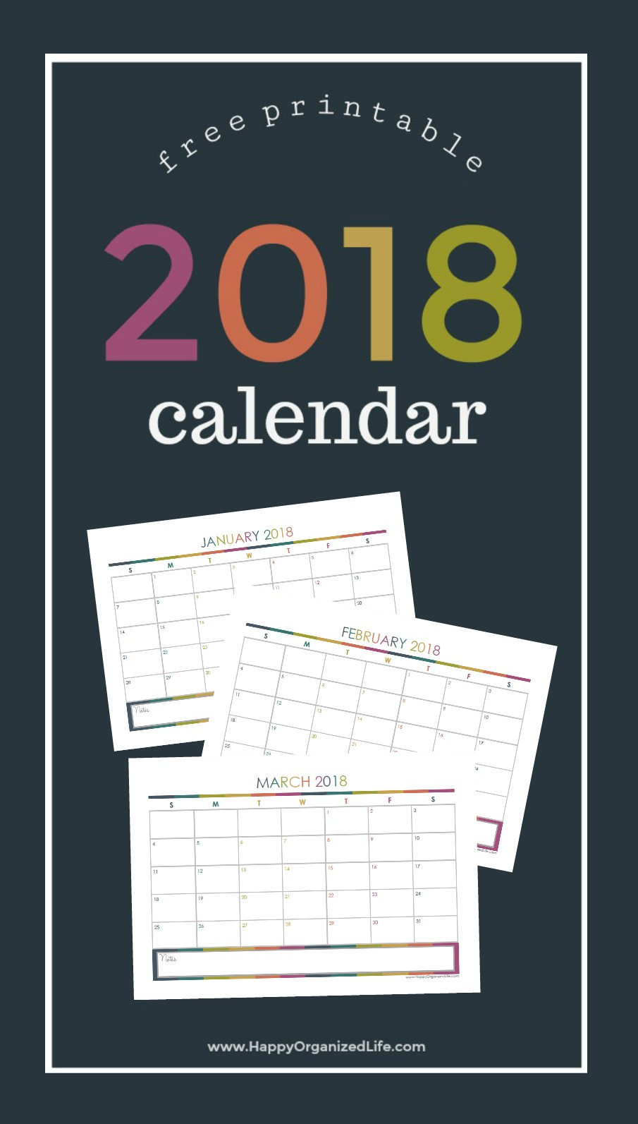 Free Printable 2018 Calendars Crafting In The Rain