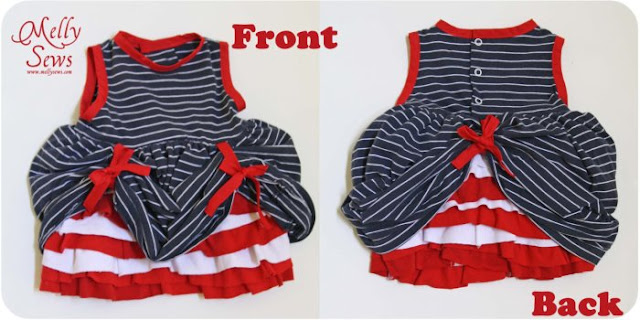 Adorable Fourth of July Baby Dress Tutorial - Melly Sews